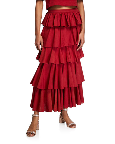 Romeo Tiered A-Line Skirt