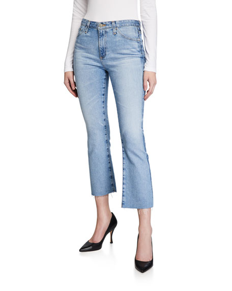 AG Adriano Goldschmied Jodi High-Rise Slim Flare Cropped Jeans