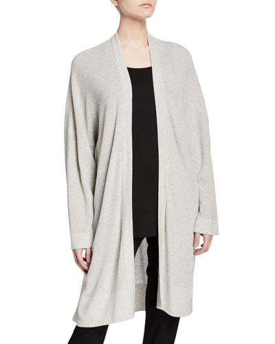 Petite Organic Cotton/Silk Long Cardigan