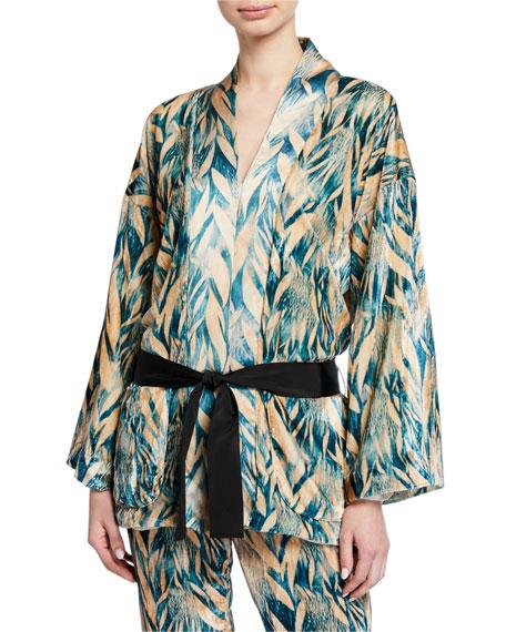 Forte Forte Printed Velvet Belted Jacket