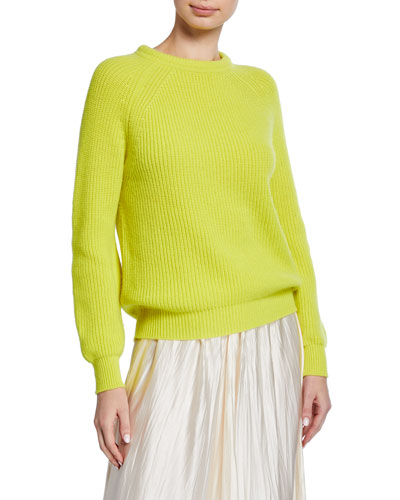 Wool-Cashmere Round-Neck Sweater