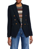 Veronica Beard Crosbie High-Rise Wide-Leg Jeans and Matching
