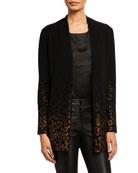 Neiman Marcus Cashmere Collection Cashmere Metallic Leopard
