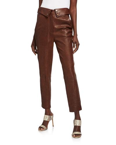 Minerva Leather Ankle Pants