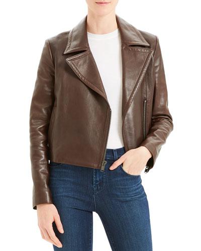 31daced2f3c Quick Look. Theory · Slim Napa Leather Moto Jacket