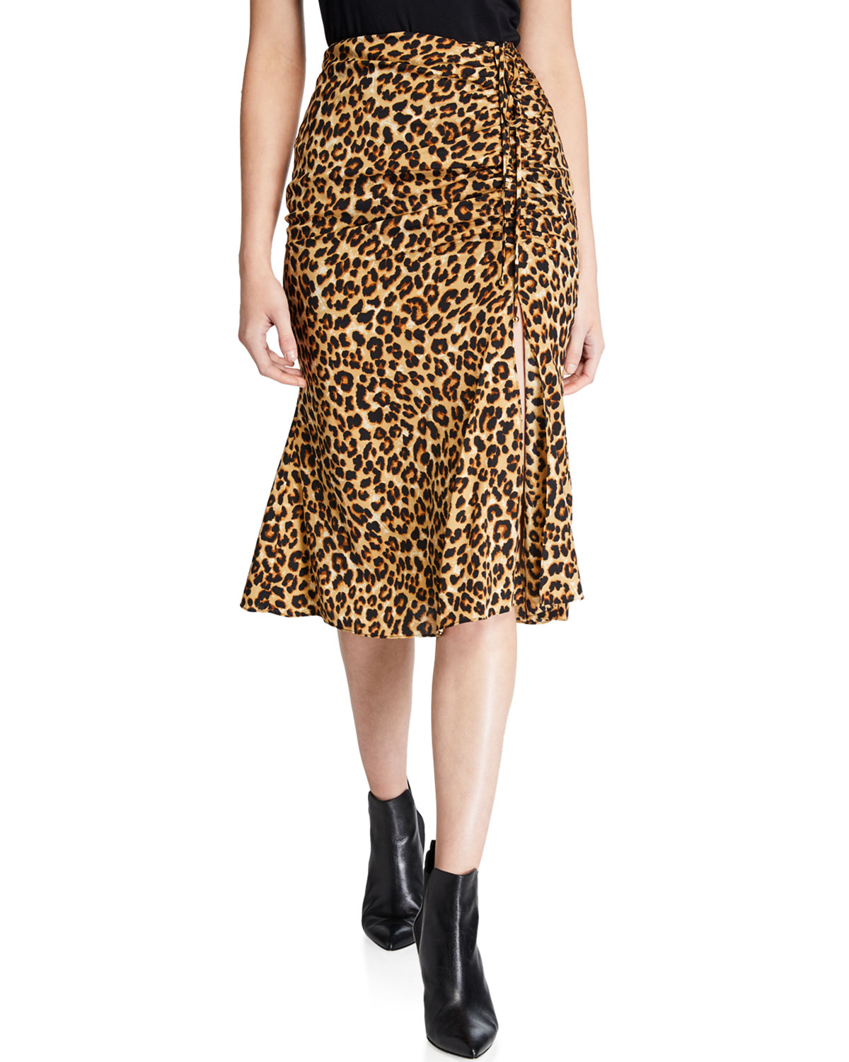 Veronica Beard Skirts VANITY LEOPARD SLIT SKIRT