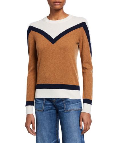 Bradford Colorblock Cashmere Pullover