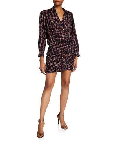 Karen Plaid Shirtdress with Zipper Detail