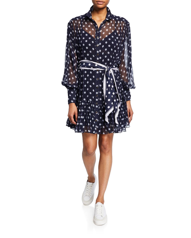 Zimmermann Dresses SABOTAGE LANTERN SHEER LONG-SLEEVE MINI DRESS