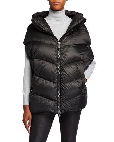 Dhata Oversized Puffer Vest w/ Hood