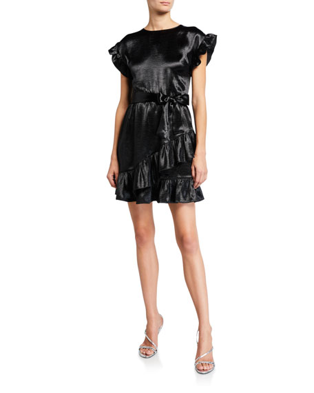 MICHAEL Michael Kors Short-Sleeve Ruffle Wrap Dress