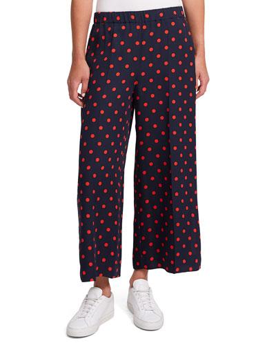 Raoka Polka-Dot Wide-Leg Pants