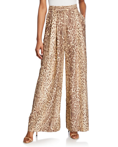 Espionage Silk Wide-Leg Pants
