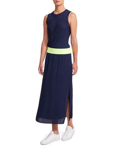 Lewie Silk Sleeveless Combo Dress