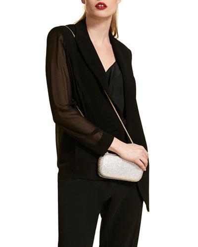 Plus Size Triacetate Jacket with Chiffon Back & Sleeves