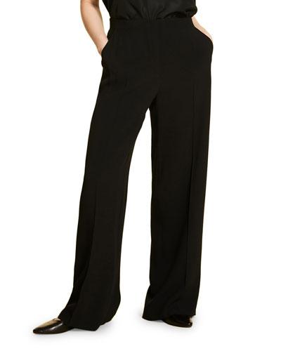 Plus Size Wide-Leg Tuxedo Pants