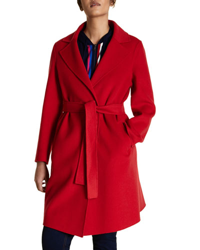 Plus Size Double Wool Coat