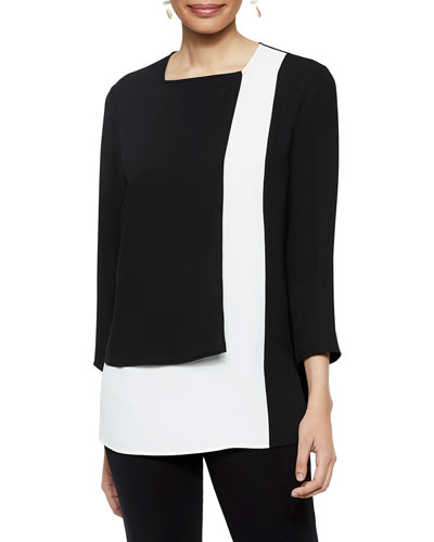Colorblock Panel Blouse