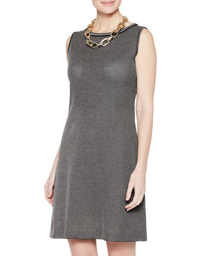 Mini Tweed Sleeveless Sheath Dress