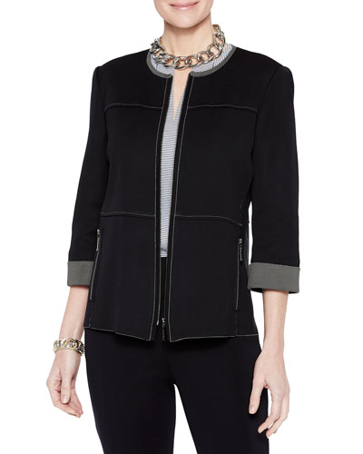 3d64759a206 Quick Look. Misook · Double Knit Zip-Front Jacket. Available in Black, Mink