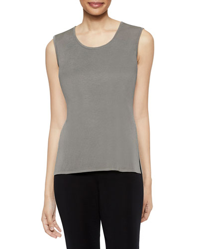Plus Size Mink Scoop-Neck Knit Tank