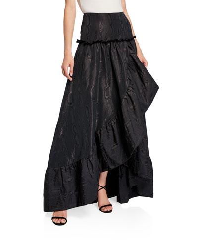 Jeanne Moire High-Low Ruffle Ball Skirt