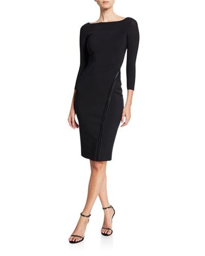 Long-Sleeve Hook-&-Eye Dress