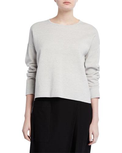 Reversible Crewneck Organic Cotton/Silk Sweater