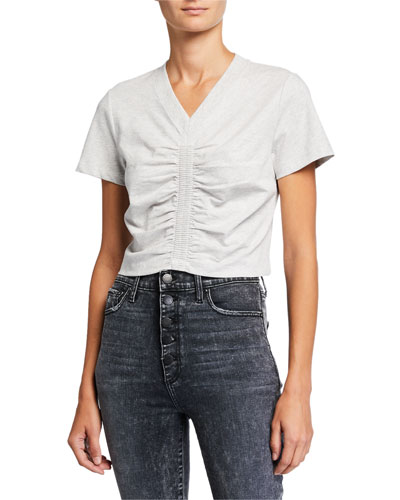 Wash & Go Ruched Jersey Top