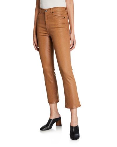High-Waist Slim Kick Flare Jeans