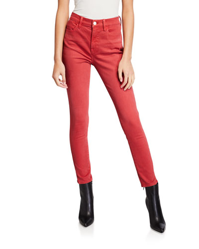 Le High Skinny Twisted Seam Ankle Jeans