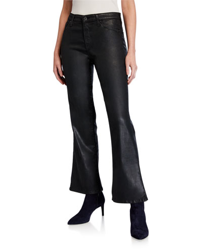 Quinne High-Rise Flare Crop Jeans