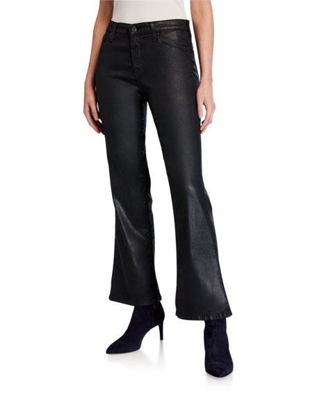 AG Adriano Goldschmied Quinne High-Rise Flare Crop Jeans