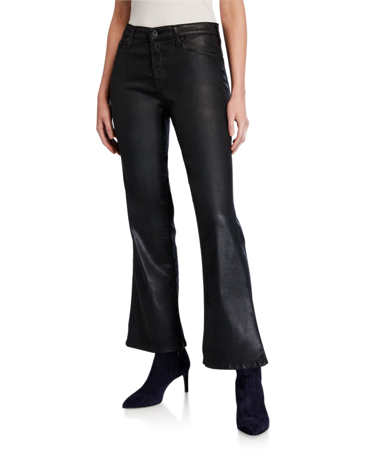Ag Jeans QUINNE HIGH-RISE FLARE CROP JEANS