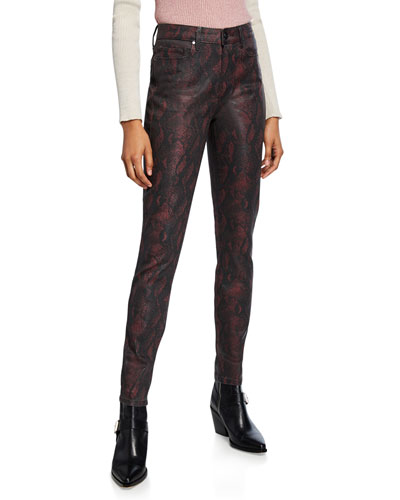 Hoxton Ultra Skinny Coated Jeans