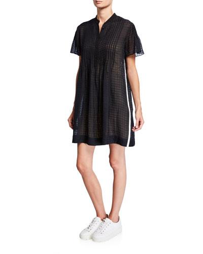Marcela Flutter-Sleeve Shirt Dress