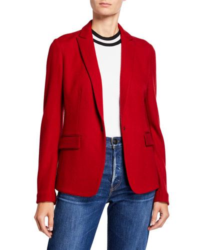 Lexington Snap-Front Wool Blazer