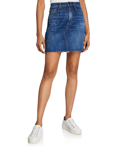 Hayden Cutoff Denim Mini Skirt