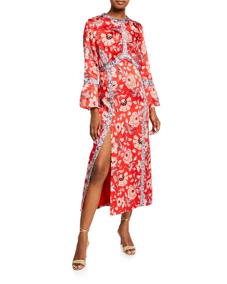 cinq a sept Smyth Floral-Print Empire Dress