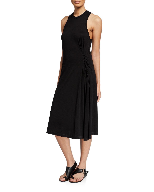 Rag & Bone Dresses LUCA CREWNECK SLEEVELESS LACE-UP DRESS