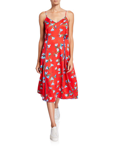 Hugo Floral-Print Tank Dress