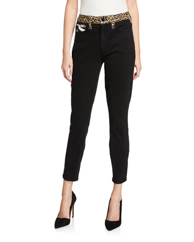 Good High-Rise Ankle Skinny Jeans with Animal Prints