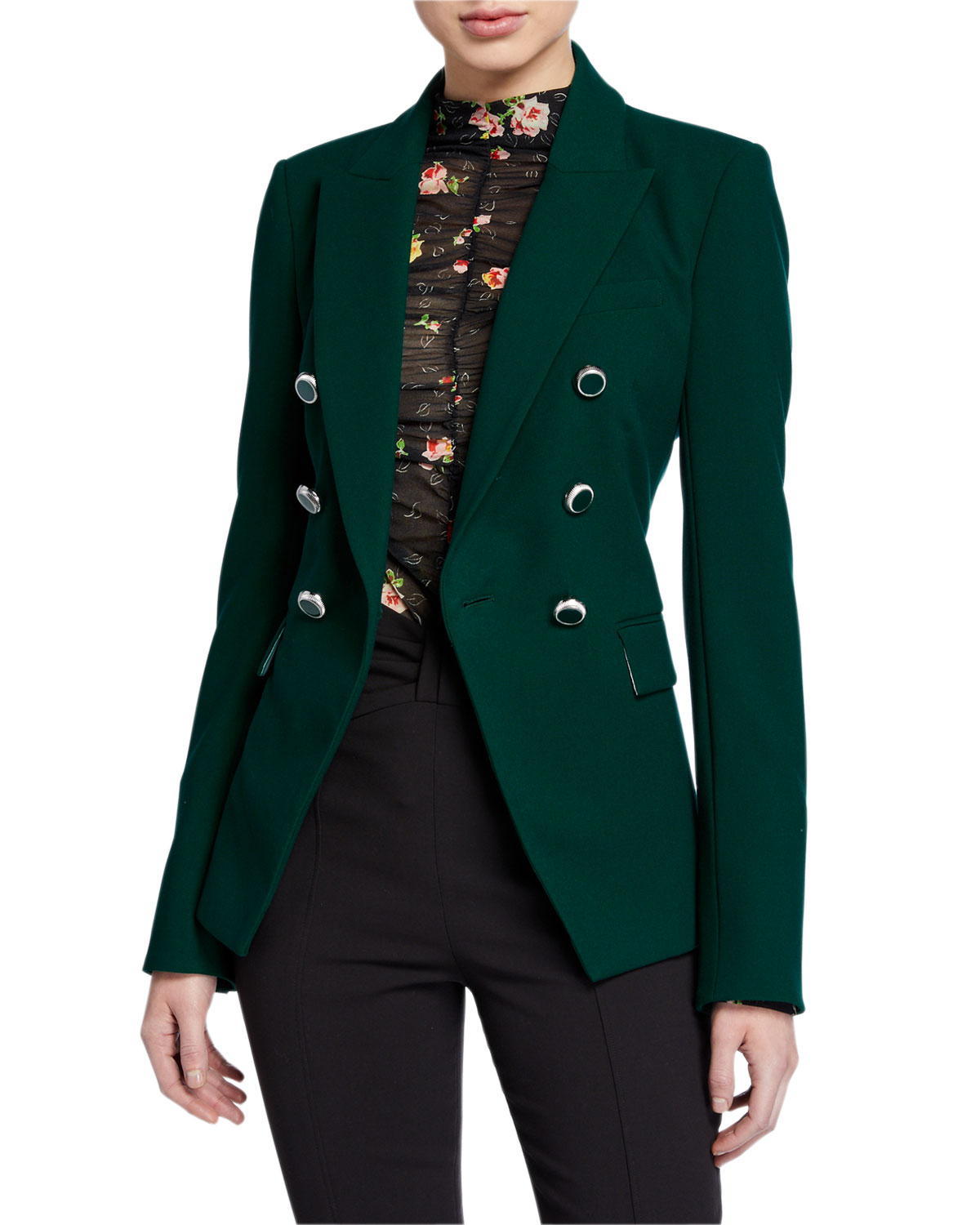 Veronica Beard Jackets MILLER DICKEY JACKET WITH ENAMEL BUTTONS