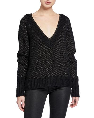 Mirnie Metallic V-Neck Sweater