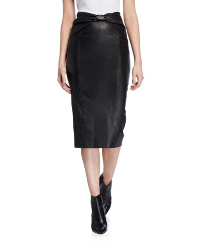 cee7a671bdd2 Quick Look. Veronica Beard · Carlyn Leather Pencil Skirt