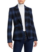 Veronica Beard Hudson Plaid Dickey Jacket