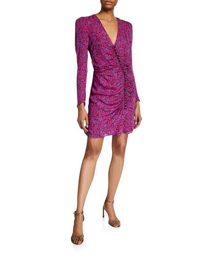 Verona Floral Long-Sleeve Cocktail Dress