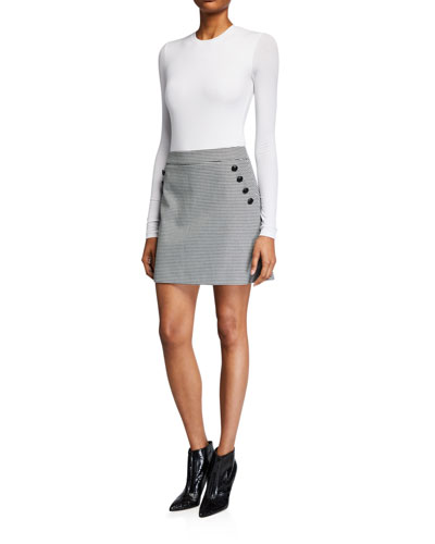 Barnes Short Skirt with Buttons