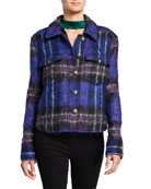 Veronica Beard Emmons Plaid Wool-Blend Jacket