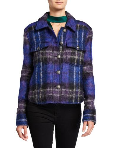 Emmons Plaid Wool-Blend Jacket